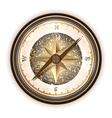Vintage antique compass vector image vector image