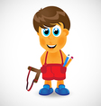 Naughty boy with slingshot vector image
