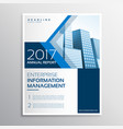 blue annual report brochure flyer template design vector image
