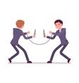 Businessmen khife fighting vector image