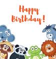 Cartoon birthday card vector image