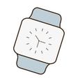 cartoon classic analog watch wearable technology vector image