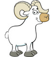 cartoon smiling ram vector image