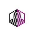 city building construction stripe logo vector image