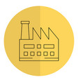 factory plant building icon vector image