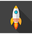 Flat stylized rocket vector image