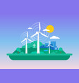 green concept - wind energy vector image