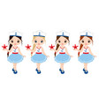 nautical little girls with starfish vector image