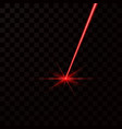 realistic red laser beam red light ray isolated vector image