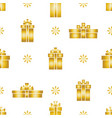seamless gift box pattern gold gift boxes vector image
