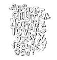 Hand drawn black font isolated on white vector image