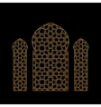 Gold islamic window vector image vector image