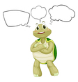 A thinking turtle vector image vector image