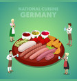 isometric germany national cuisine with sausage vector image vector image