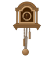 antiquarian clock with a pendulum vector image
