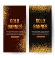 Gold banners with glitters and sparkles Gold vector image