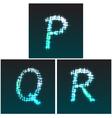 P Q R vector image