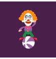 Clown Balancing On Ball vector image