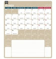 French calendar 2017 vector image vector image