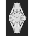 Business style hand watches Chalk on blackboard vector image