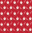 christmas pattern santaclaus vector image