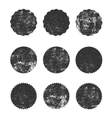 Collection of grunge circle shapes design vector image