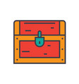 dower chest flat line concept vector image