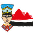 egyptian queen - abstract banner vector image