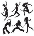 modern dancers silhouette vector image