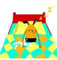 sleeping dog cartoon with cute dog vector image
