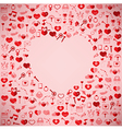 The Heart Valentines day Love icon vector image