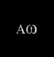 Greek Letter- Alpha and Omega vector image