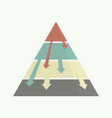 top down pyramid business strategy vector image