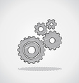 Sketched gears vector image vector image