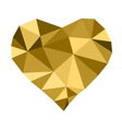 Low poly golden heart vector image vector image