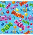 seamless pattern candies blue vector image vector image