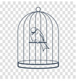 bird in a cage silhouette vector image
