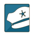 blue hat police icon image vector image