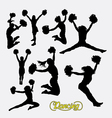 Cheerleader happy girl silhouette vector image