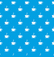cup of hot drink pattern seamless blue vector image