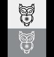 Cute Owl Tribal vector image
