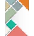 Design template for flyer or brochure vector image