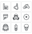 Execution icons vector image