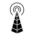 frequency antenna - radio tower icon vector image