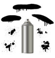 graffiti spray paint can with splash vector image