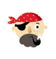 Pirate head isolated icon vector image