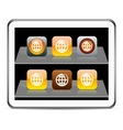 Planet orange app icons vector image