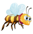 A colorful bee vector image vector image