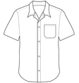 front shirt vector image