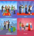 celebrity 2x2 design concept vector image